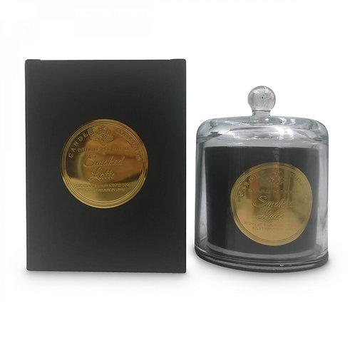 Bougie cloche noire Smoked Latte D.10xH.13cm