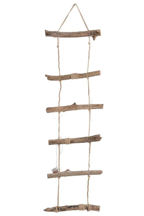 Echelle + Led Suspendue Bois