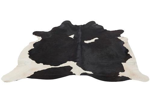 Peau De Vache Cuir Noir/Blanc