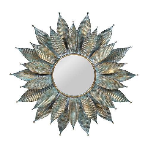 Miroir ResiliTurquoise + doré