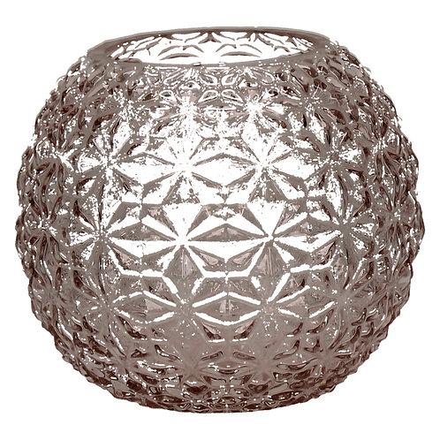 Vase- Moon- verre-rose clair -s- dia 15 x 13 cm POMAX