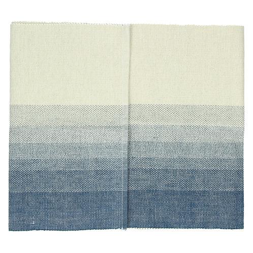 Chemin de table -Barcaggio - coton - indigo/naturel - 40x140 cm POMAX 32687-nvy