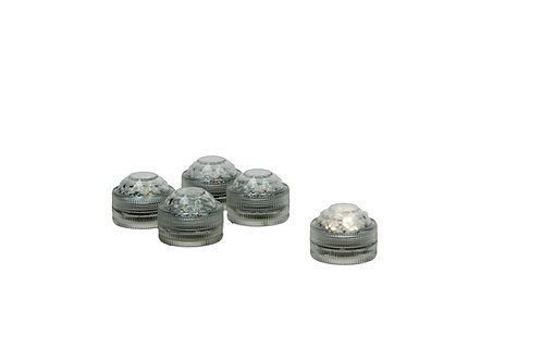 5 LEDS individuelles-Boite cristal
