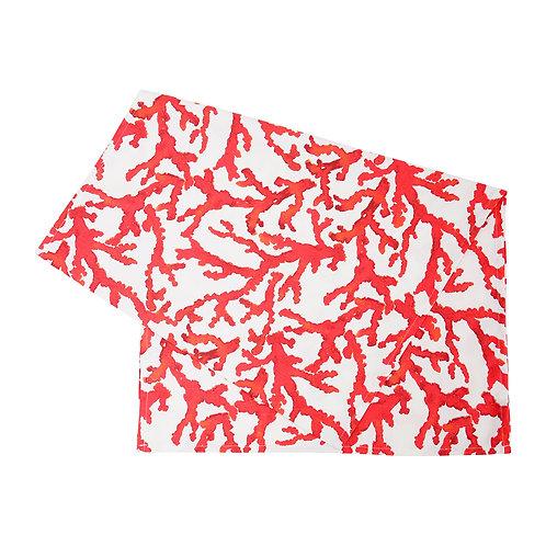 Chemin table estran rouge 160x50cm