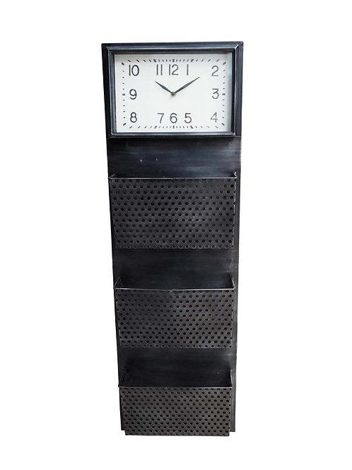 Horloge et range document métallique