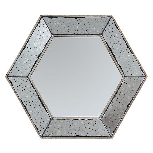 Miroir D53cm hexagonal ANTIQUE