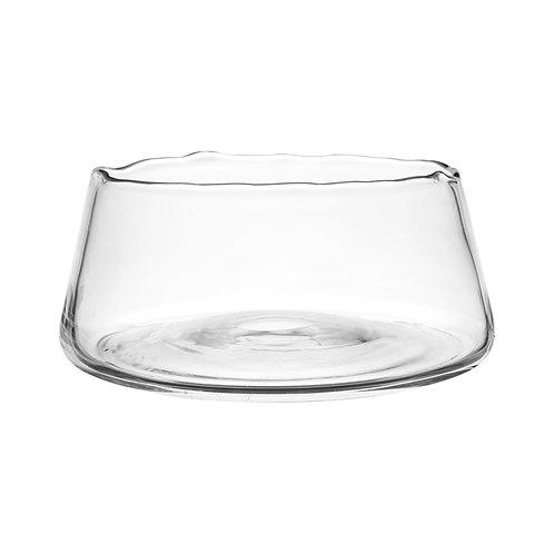 Vase bas crestina verre