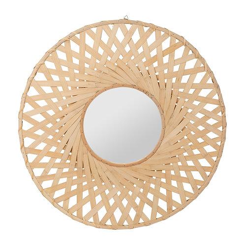 Miroir Bambou + mdf + miroir