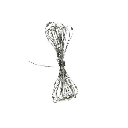 GLITTER - guirlande - synthétique - L 320 cm - argent