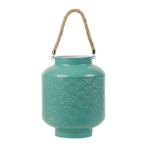 Lampe lanterne Turquoise  Fer