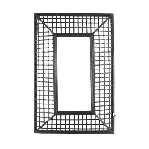 Miroir bambou noir 44.5 x 3.5 x H67cm