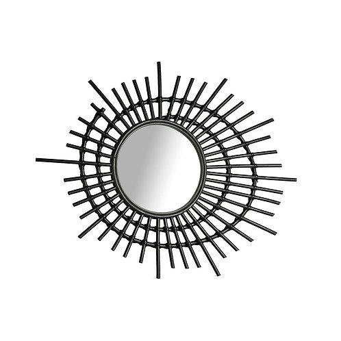 Miroir rotin noir 75 x 2.5x 60cm