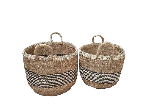 SET 2 PANIERS SEAGRASS NATUREL