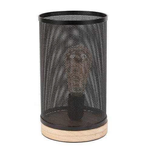 Lampe cylindre Noir  Pin + fer