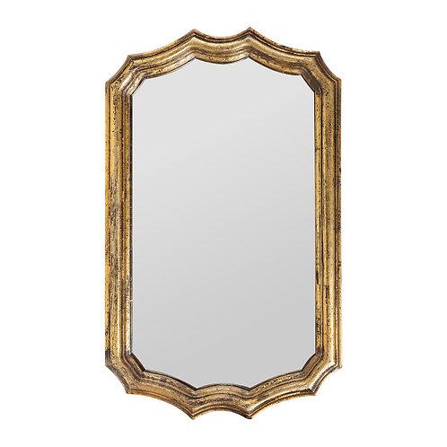 Miroir baroco dore vieilli