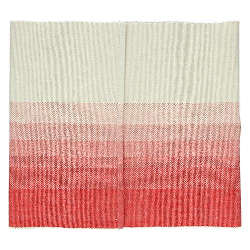 Chemin de table Barcaggio -  coton - rouge corail/naturel - 40x140 cm POMAX