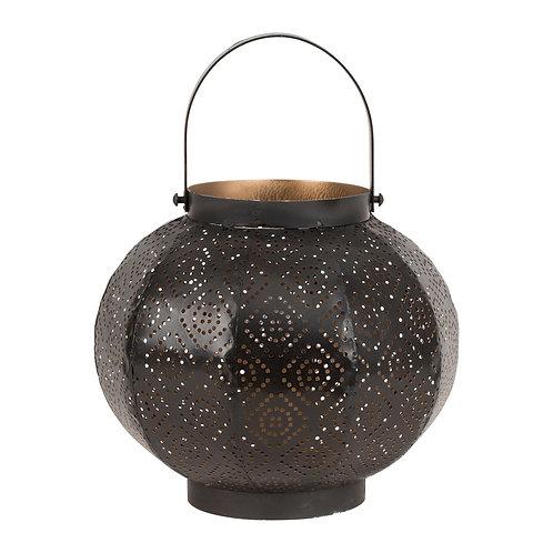 Lampe lanterne LOSANGENoir + doré -Fer -D23.5