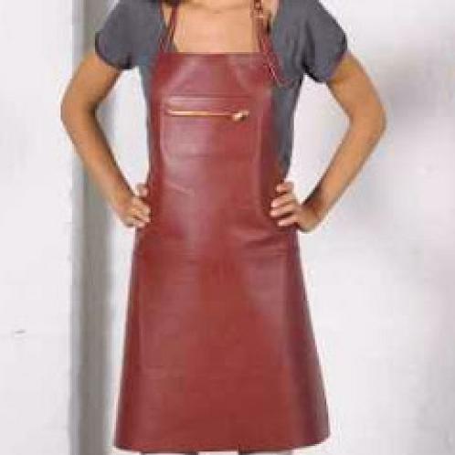 Tablier cuir red réglable poche avec fermeture