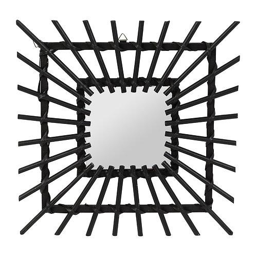 Miroir carré noir