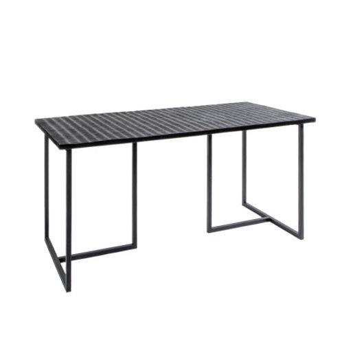 TABLE  FER/MANGO NOIR 160X80XH76CM
