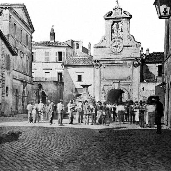 Piazza di Sutri nel 1800 circa