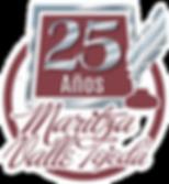 logo de 25 años de Maritza Valle Tejeda