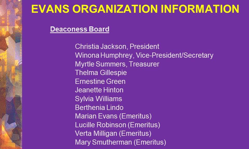 5-Deaconess Board
