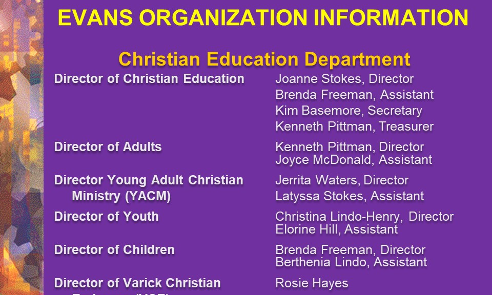 8-Christian Education Department