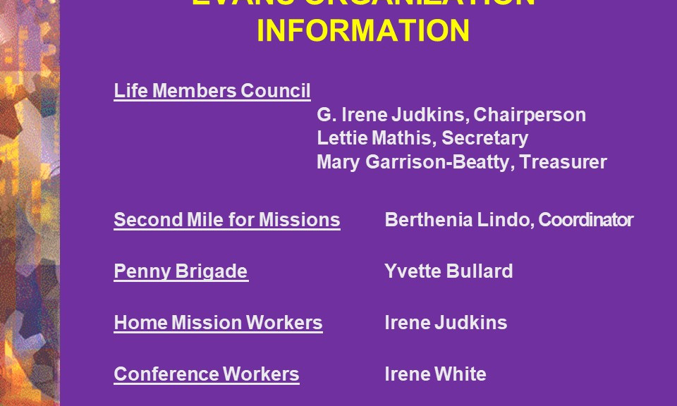 Life Members Council, Mission & Conf. Workers