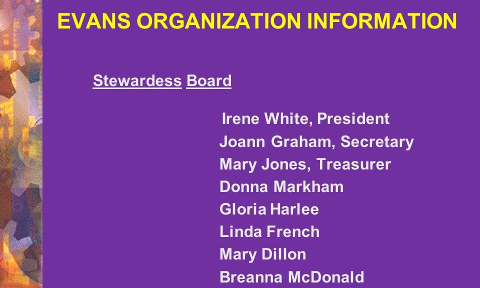 Stewardess Board