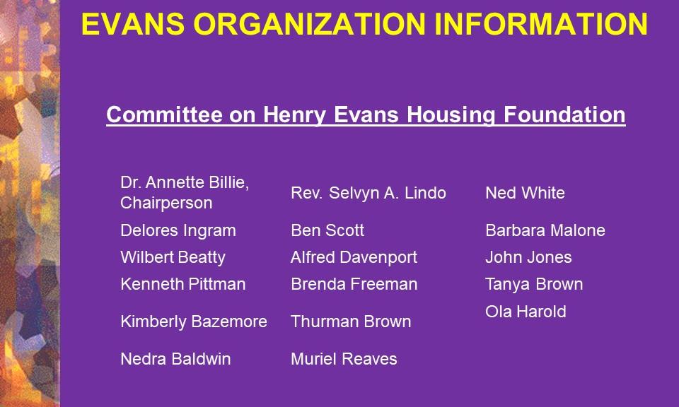 21-Henry Evans Housing Foundation