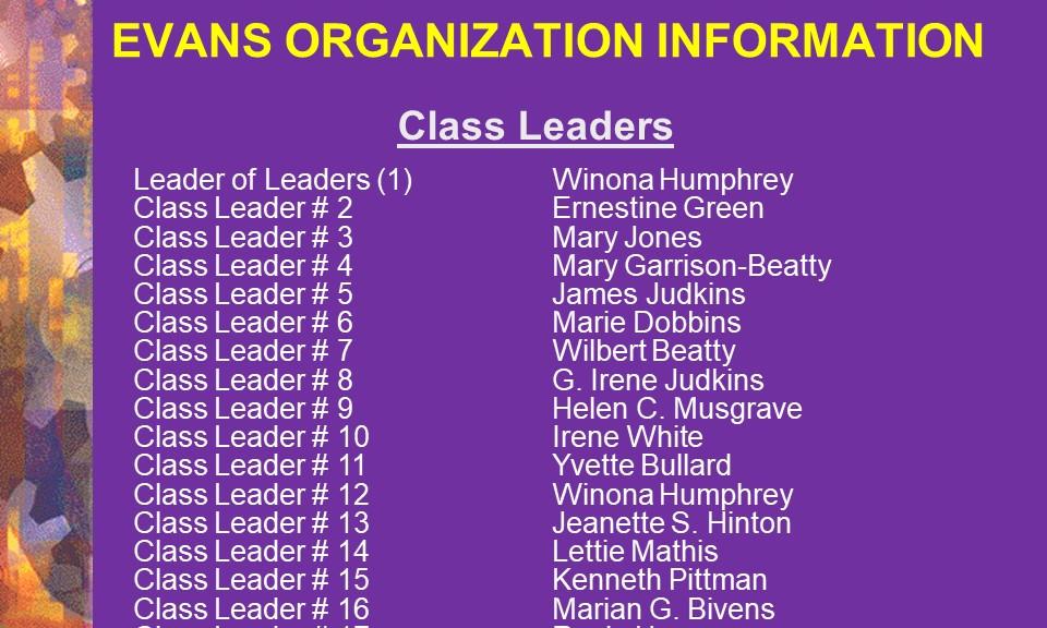 2-Class Leaders