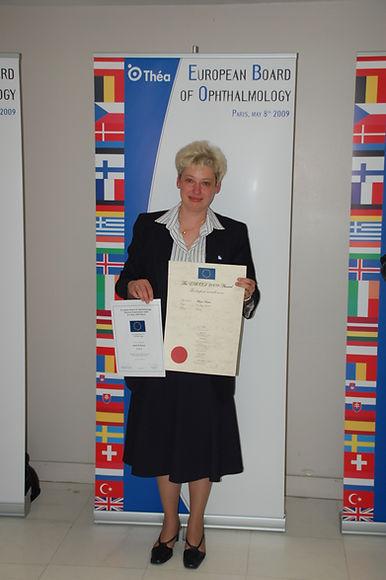 "Dr. Beata Mazur - Winner of the ""Highest overall score of the EBOD 2009"""