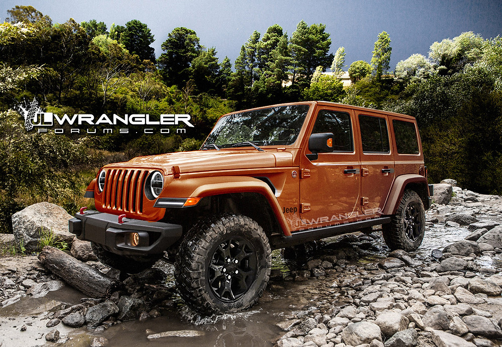 Rendering of 2018 Jeep Wrangler on JLWrangler Forum.com