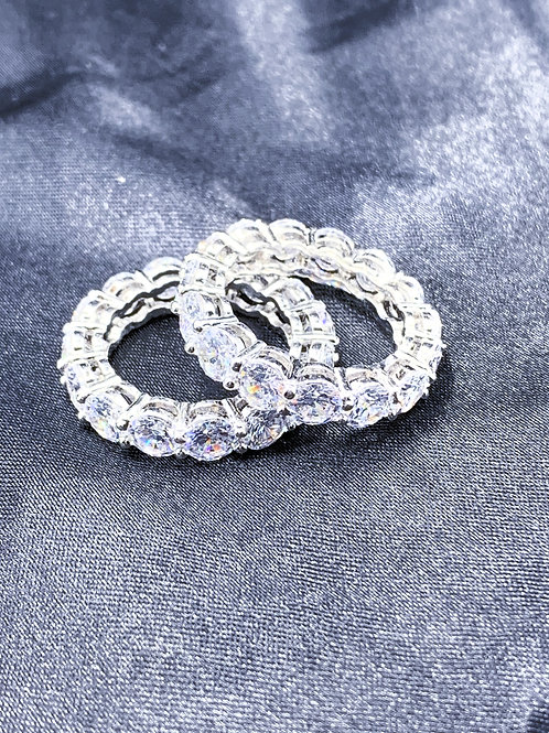 Iced Out Oval Ring