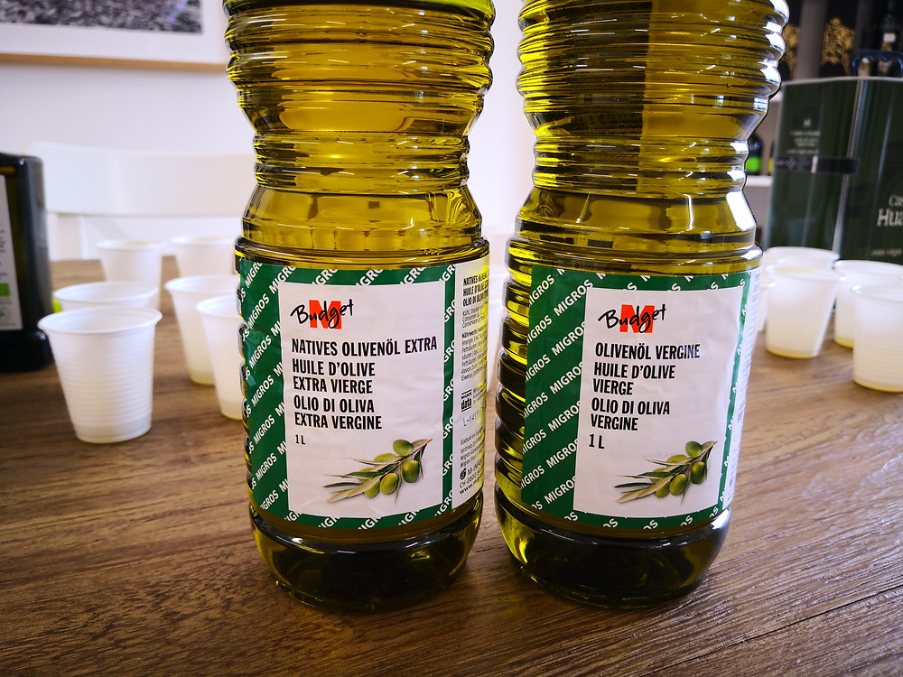 M-Budget olive oil from Migros: Formerly extra virgin, now only virgin (Photo: Master of Olive Oil)
