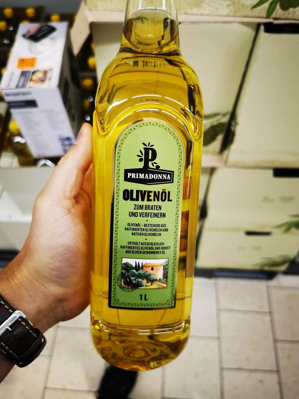 """Olivenöl. Bedeutet so viel wie fünfte Güteklasse. Mit """"nativ"""" hat das allerdings nichts zu tun (Bild: zvg)"""