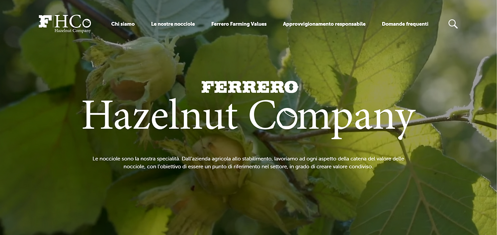 Ferrero Hazelnut Company (Bild: Screenshot https://www.ferrerohazelnutcompany.com/it/it/) Master of Olive Oil