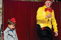 Show do Palhaço  engraçado, Tchutchuco encantou o aniversariante