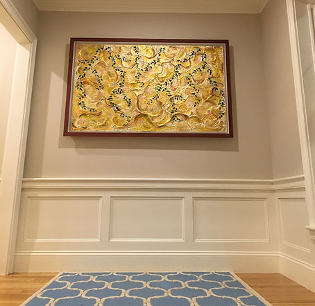 abstract gold painting