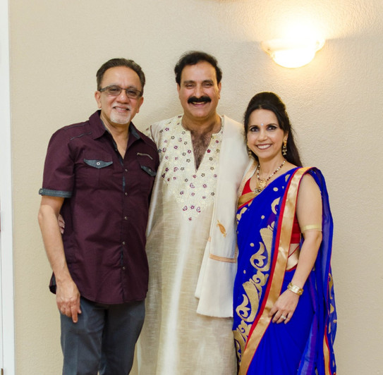 Leena and Kiran Chhaganlal with TirmiziJi