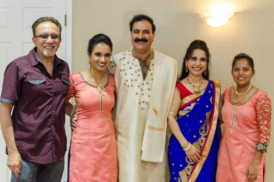 Chhaganlal Family with TirmiziJi and student Ruta