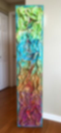 abstract double sided painting