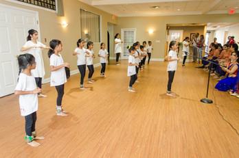 Minors class presenting tukra's and Padhant