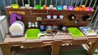 מטבח בחצר-בעבודה אישית