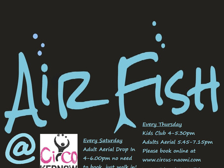 AIRFISH AERIAL ARTS ACADEMY FALMOUTH WEEK 1!  50th PERSON TO SHARE ON FACEBOOK WINS 3 FREE LESSONS!