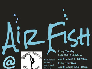AIRFISH AERIAL ARTS ACADEMY REDRUTH, WEEK 1!   50TH PERSON TO SHARE ON FACEBOOK WINS 3 FREE LESSONS!