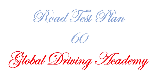 Road Test Plan 60