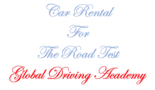 Car Rental For the Road Test