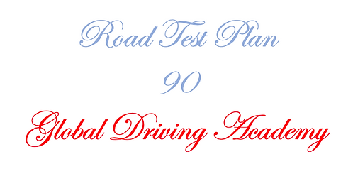 Road Test Plan 90